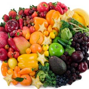 цветни зеленчуци и плодове